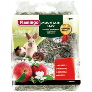 Flamingo Heno Montaña con Manzana para roedores