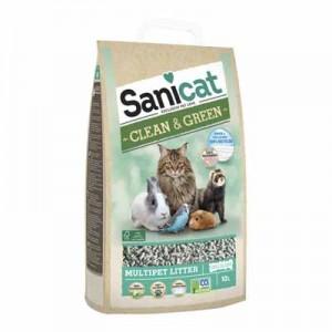Sanicat Lecho de Papel Clean & Green para conejos y roedores