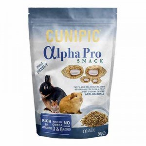 Cunipic Alpha Pro SnacK Anti-Bolas de pelo para conejos y roedores