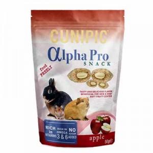 Cunipic Alpha Pro Snack de Manzana para conejos y roedores