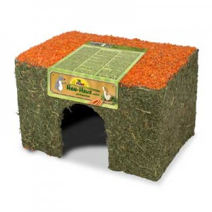 JR FARM Casita con Heno y zanahoria para conejos y cobayas