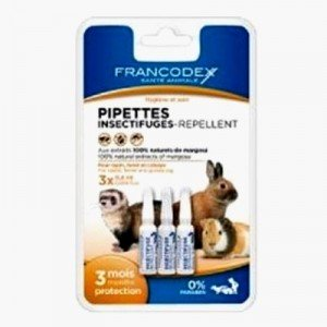 Francodex Pipetas repelentes antiparasitarias para roedores