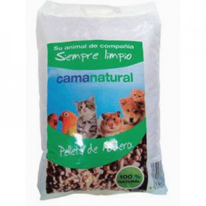 Lecho higienico pellets de madera para conejos y roedores