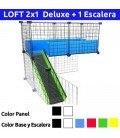 CagesCubes - KIT completo para LOFT Deluxe 2x1 con escalera