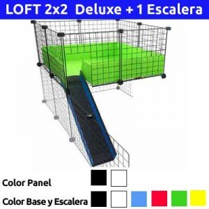 CagesCubes - KIT completo para LOFT Deluxe 2x2 con escalera