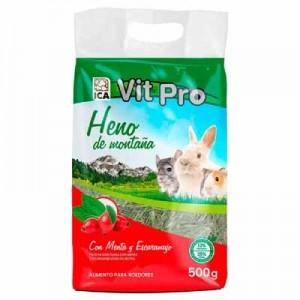 Vit Pro Heno con menta y escaramujo para conejos y roedores