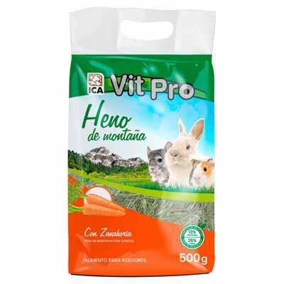 Vit Pro heno natural con Zanahoria para conejos y roedores