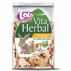 Lolopets vitaherbal snack de manzana seca para conejos y cobayas