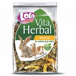 Lolopets vitaherbal snack de hierbas mixtas para conejos y cobayas