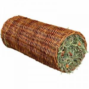 Trixie Tunel de mimbre con heno y zanahoria para conejos y cobayas