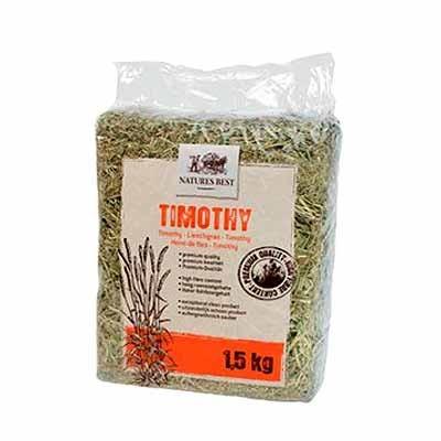 Natures Best Heno de Timothy para conejos y cobayas