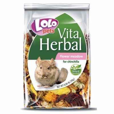 Lolopets vitaherbal snack de flores silvestres para chinchillas