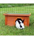Trixie Caseta exterior marron para conejos