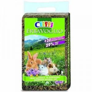 Cliffi Heno ERBAVOGLIO con 20 hierbas para conejos y cobayas