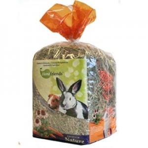 HomeFriends Heno fresco con Zanahoria y Equinacea para roedores 500 gr