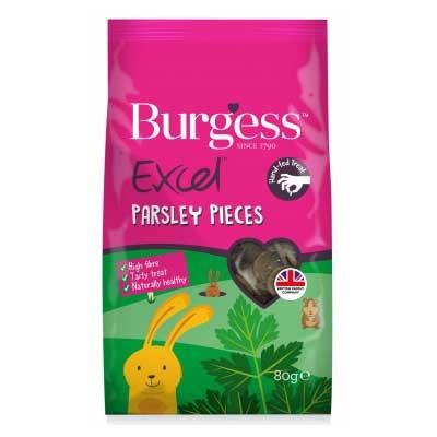 Burgess Excel snack de perejil y hierbas para conejos y cobayas