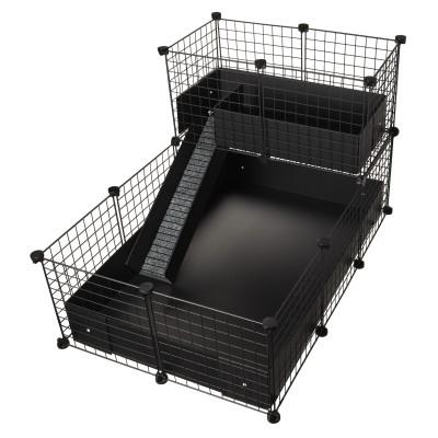 CagesCubes - Jaula CyC Deluxe 2X3 con Loft 2X1 para cobayas
