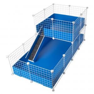 CagesCubes - Jaula CyC Deluxe 2X4 con Loft 2X2