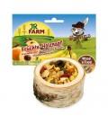 JR FARM Troco de madera relleno de frutas para roedores