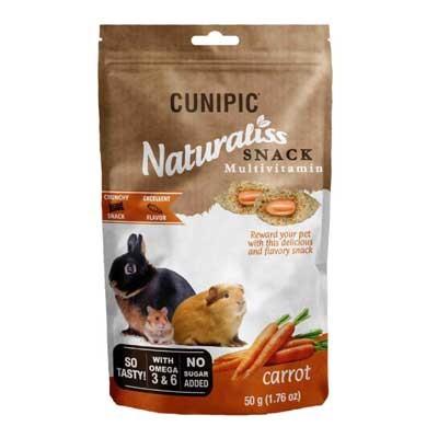 Cunipic Snack naturaliss Zanahoria para roedores, conejos y cobayas