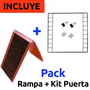 CagesCubes - PACK Rampa Doble + Kit Puerta para Jaulas CyC