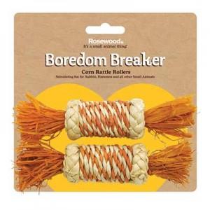 Rosewood juguete rodillo de maiz para roer conejos y cobayas