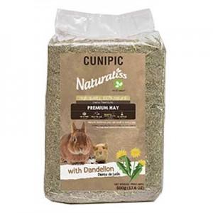 Cunipic heno premium naturaliss con diente de leon para conejos y cobayas