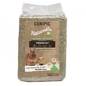 Cunipic heno premium naturaliss con manzanilla y menta para conejos y cobayas
