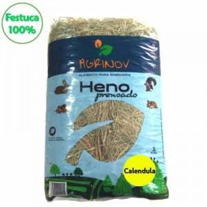 FESTUCA HENO 100 % con calendula PARA CONEJOS Y COBAYAS
