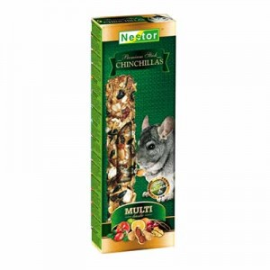 Nestor - 2 Barritas STICK MULTI-TASTE PREMIUM PARA CHINCHILLAS 115 GR