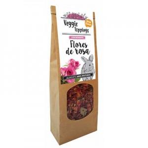 Veggie Toppings Flores de Rosa 45 gr para conejos y roedores