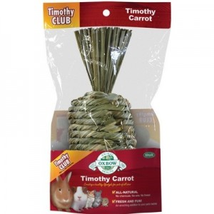 Oxbow Zanahoria juguete comestible de heno Timothy para conejos y roedores