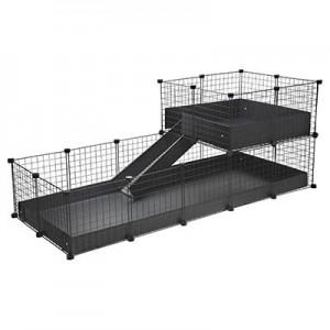 CagesCubes - Jaula CyC Deluxe 2X5 con Loft 2X2