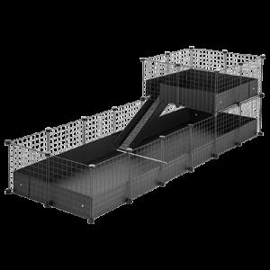 CagesCubes - Jaula CyC Deluxe 2X6 con Loft 2X2 para cobayas