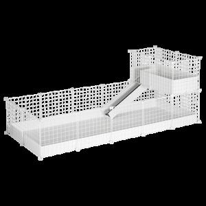 CagesCubes - Jaula CyC Deluxe 2X5 con Loft 2X1 para cobayas