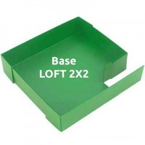 CagesCubes - Base Coroplast para LOFT de 2X2 para jaulas CyC