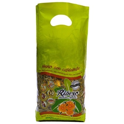 Ribero Heno de Festuca con Calendula para roedores 500 gr