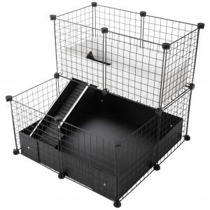 CagesCubes - Jaula CyC Deluxe Compact 2X2 con Loft 2X1 para cobayas