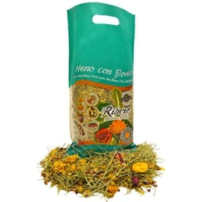 Ribero Heno con Flores para roedores 500 gr