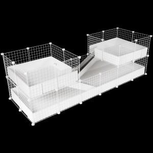 CagesCubes - Jaula CyC Deluxe PLUS 2X6 con Loft 2X2 para cobayas