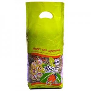 Ribero Heno de Festuca con Zanahoria para roedores 500 gr