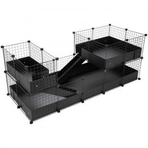 CagesCubes - Jaula CyC Deluxe PLUS 2X5 con Loft 2X2+2X1 para cobayas