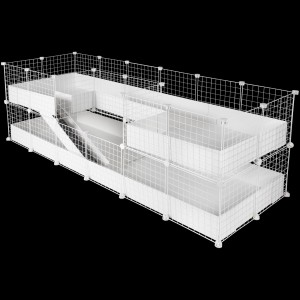 CagesCubes - Jaula CyC Deluxe PLUS 2X6 con Loft 2X2 + 2X2 para cobayas