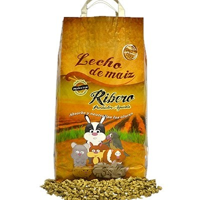 Ribero Lecho de Maiz Biodegradable para roedores 5 Kg