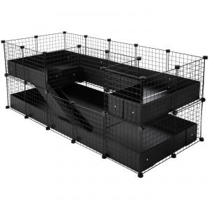 CagesCubes - Jaula CyC Deluxe PLUS 2X5 con Loft 2X2 + 2x1 para cobayas