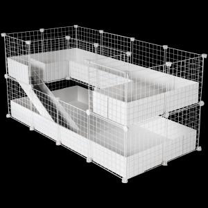 CagesCubes - Jaula CyC Deluxe PLUS 2X4 con Loft 2X1 + 2X1 para cobayas