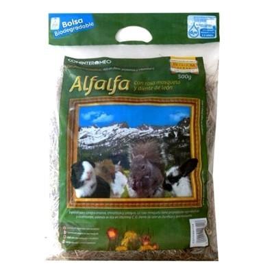 Cominter Alfalfa con rosa mosqueta y diente de leon para roedores 500 gr
