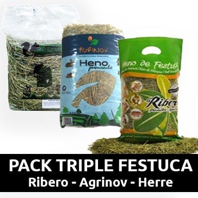 PACK - RIBERO HENO para conejos, cobayas y roedores