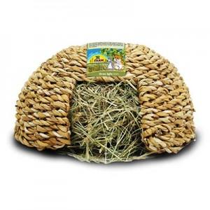 JR FARM Igloo comestible con heno para conejos y cobayas