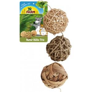 JR FARM Trío de bolas naturales para conejos y roedores